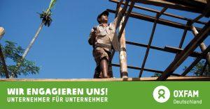 Wir engagieren uns bei Oxfam