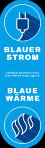 Zertifikat Blauer Strom - blaue Wärme